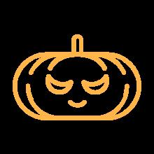 Make-A-Wish Australia icon of a pumpkin