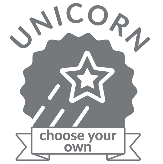 Superhero Cycle unicorn badge for  choose your own distance